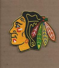 NEW 3 X 3 1/2 INCH CHICAGO BLACKHAWKS IRON ON PATCH FREE SHIPPING