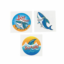 SHARK PARTY FAVOUR Shark Tattoo Temporary Tattoos Pack of 36 Free Postage