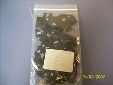 M/M Medium Clothing Size Tag label Qty 250 Color Black New