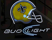 "New Bud Light New Orleans Saints Beer Neon Sign 20""x16"""