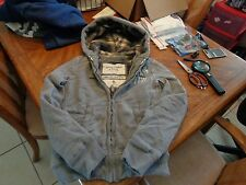 Abercrombie & Fitch Grindstone Creek Lined Hoodie Jacket Sz. S  Gray