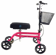 KneeRover Steerable Knee Scooter Knee Walker Crutch  in HOT PINK Preowned