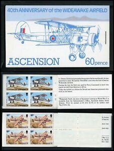 Ascension Scott #310 MNH BOOKLET 2 BLOCKS Wideawake Airfield 40th ANN CV$7+