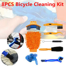 8 In1 Bicycle Cleaning Kit Precise Tire Clean Brush Tool Set+Bike Chain Scrubber