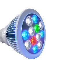 Roleadro 12w E27 bombilla de luz LED de Acuario para Pecera peces de arrecife de coral plantas Cosplay