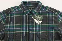 Men's WOOLRICH Gray Green Plaid Flannel Cotton Shirt Jacket XXL 2XL NWT NEW