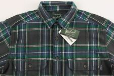 Men's WOOLRICH Gray Green Plaid Flannel Cotton Shirt Jacket Medium M NWT NEW