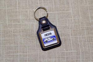 Ford Fiesta Mk2 Keyring - Leatherette & Chrome keyfob