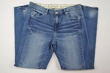 Calvin Klein Jeans Womens Distressed Skinny Leg Denim Blue Jeans sz 8 (32 X 29)