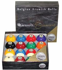 New Belgian SUPER ARAMITH Tournament Set Pool Balls Set BRAND NEW Billiard ARTS