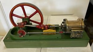Large Live Steam Horizontal Mill Stationary Engine Plant Model Scratch Built