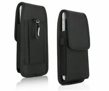 Luxury Belt Clip Holster Soft Pouch Canvas Card Wallet Bag Cell Phone Case Cover