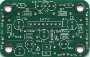 KMTech 2-Channel LA3161 based NAB Tape Head Audio Preamp PCB DIY