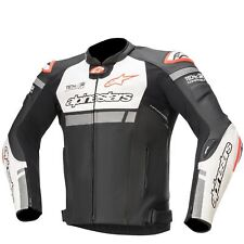 Alpinestars Missile Ignition Leather Jacket Tech-Air Compatible - Black/White/Fl