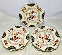 "Set of 7 Mikasa ""Far East"" Fine China Dinnerware, Salad Plates 7.25"""