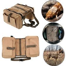 Canvas Dog Hiking Bag Hound Travel Camping Hiking Backpack Saddle Pack Rucksack