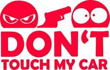 Don't Touch My Car Autoaufkleber Sticker JDM Fun rot ca. 10x6 cm