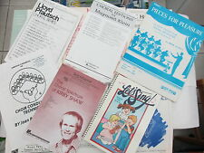 MUSIC COLLECTION - VINTAGE SONG SHEETS / BOOKS - CHORAL AND MORE - MUST READ >>