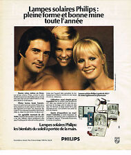 PUBLICITE ADVERTISING  1974   PHILIPS   lampes solaires