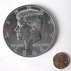 New Jumbo Giant Metal Production Magic Coin Trick US Kenndy Half Dollar