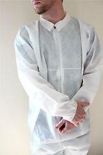 Xl White Disposable Coverall Polypropylene Polyethylene Free Shipping