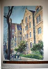 Robert E Kennedy Original Yale University Watercolor 1990
