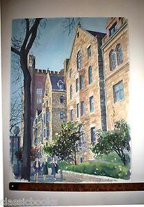 Robert E Kennedy Original Yale University Watercolor 1990