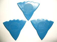 3 Herdim 3-Stärken-Plektren blau, Plektrum