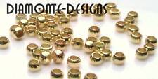 500 x 1.5mm Gold Plated Round Crimp Beads D179