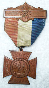 1883 INDIAN WARS WOMANS RELIEF CORPS MILITARY PIN MEDAL
