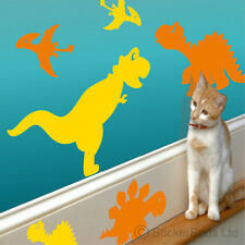 14 DINOSAUR WALL STICKERS Choose 1 or 2 colours