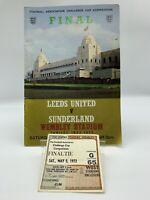 RARE Leeds United v Sunderland 1973 FA Cup Final Programme + Ticket WEMBLEY