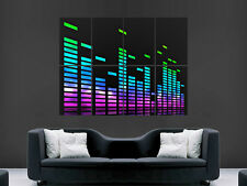 Graphique equiliser music art huge wall giant poster