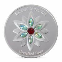 Eternal Moment Rose Commemorative Coin Collection Gift Souvenir Art Metal Antiqu