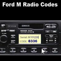 *FORD M & V SERIAL RADIO CODE UNLOCK FOCUS TRANSIT FIESTA MONDEO C-MAX*