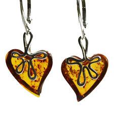 Heart Drop/Dangle Natural Stone Costume Earrings