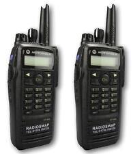 MOTOROLA DP3600 UHF 4 WATT WALKIE-TALKIE TWO WAY RADIOS & COVERT EARPIECES x 2