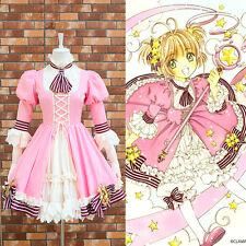 CARD CAPTOR SAKURA  20TH ANNIVERSARY Pink Cosplay Costume Fancy Dress Size S-L