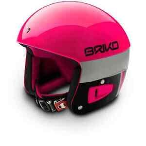 Briko Vulcano FIS Ski Race Helmet - Pink Explosion Black, XX Small (52cm)