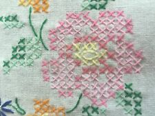 Vintage Handmade German Floral Doilies Set of 2