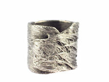 Designer Damen 925 Silber Natur Design breiter Ring !