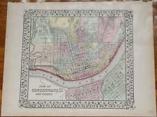 "New ListingOriginal 1872 Plan of Cincinnati - Mitchell's Atlas map 15.2"" x 12.4"" Antique"