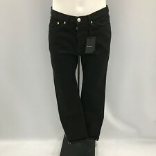 NEW WHISTLES Black Tapered Fit Button Fly Denim Jeans Smart Size UK 34 141355W