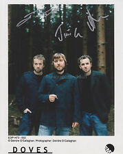 Doves HAND SIGNED 8x10 Photo Autograph, The Goes The Fear Lost Souls Some Cities