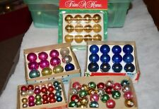 Lot 84 Vintage Christmas Ornaments Feather Tree Shiny Brite Japan Balls Small