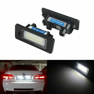 Pair Canbus LED License Number Plate Light Lamps BMW 5 Series E39 E60 E61 M5 F10