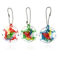 1x Mini Puzzle Ball Addict a Ball Maze 3D Puzzle Game Toys Keyring Keychain