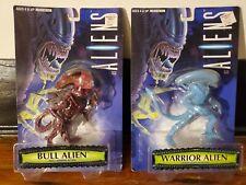 1996 HASBRO/KENNER ALIENS Bull Alien and Warrior Alien MOC