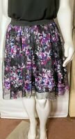 TORRID Black Floral Print Tulle Mini Skirt Women's Plus Size 3 (3X)