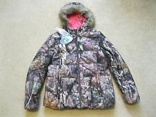 New Women's Mossy Oak Hooded Puffer Jacket, Break-Up Country Camo, Ladies, Large